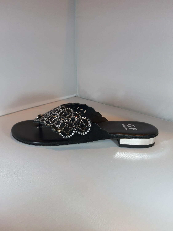 GP | Platte slipper zwart