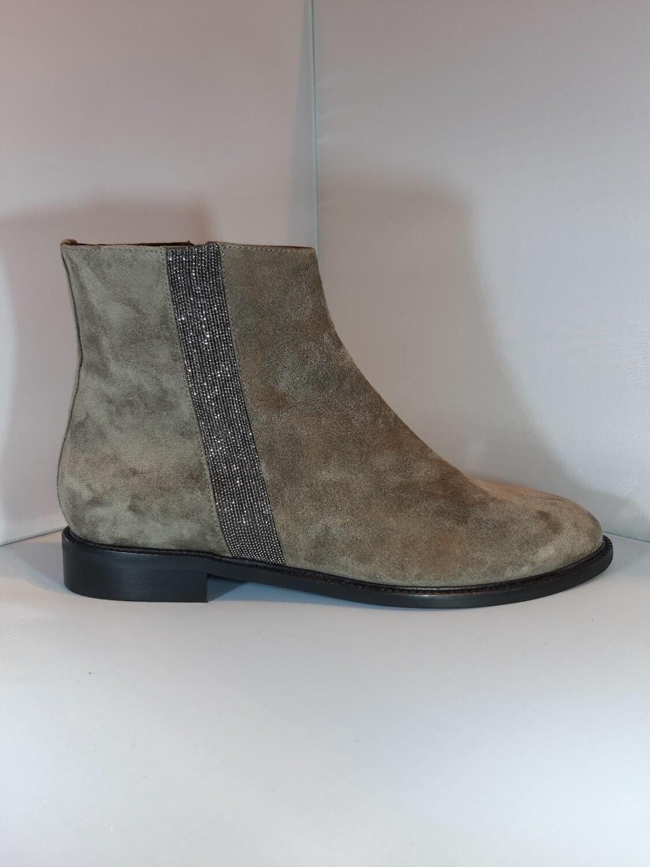 Catwalk   Platte boot taupe daim