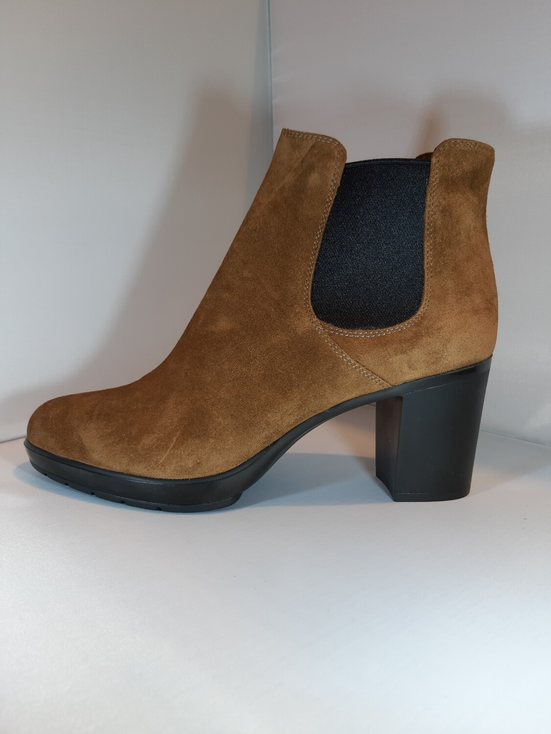 Triver Flight | Boot cognac met hak