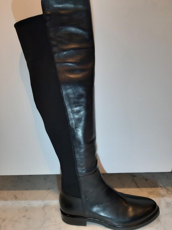 Laura Bellariva | Knielaars leder zwart
