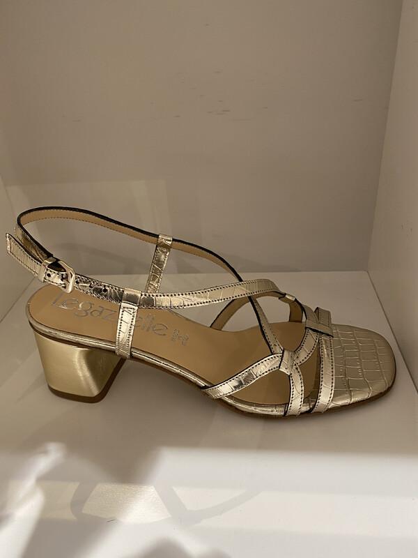Le Gazelle / sandaal goud 5cm hak