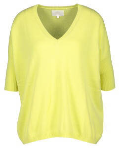 Tricot de Léa / pull cashmere geel