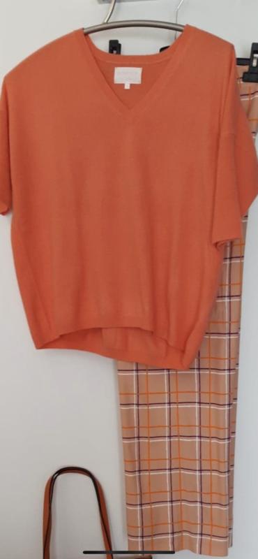 Tricot de Léa / pull cashmere oranje