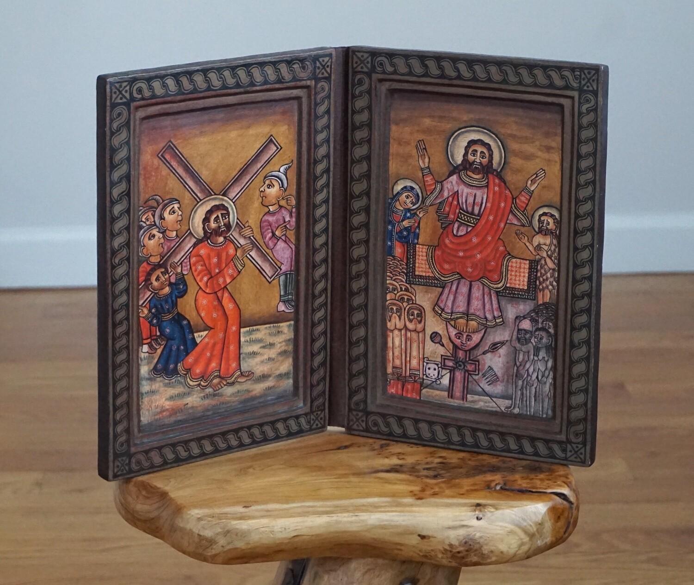 Ethiopian Coptic Orthodox Icon| Crucifixion Of Jesus Christ| Christianity Storytelling