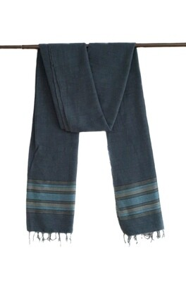 Handmade Women Oversized Scarf Shawl Wrap| Dark Blue Solid| Made Of 100% Organic Cotton