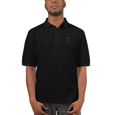 Men's Embroidered Premium Polo with Jesus logo
