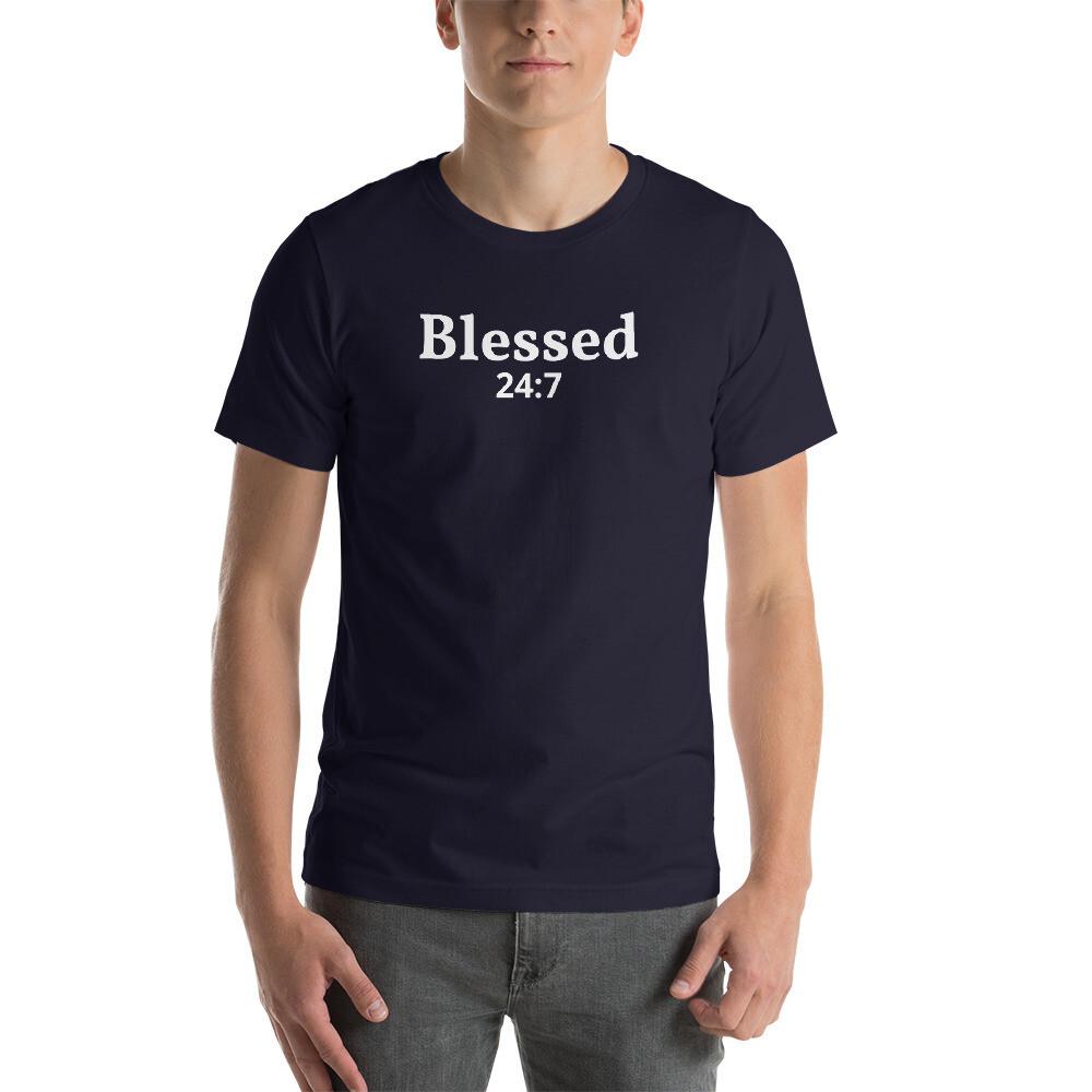 Blessed 24:7 Short-Sleeve Unisex T-Shirt