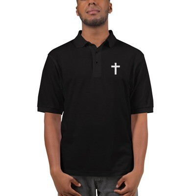 Men's Premium Polo with embroided cross