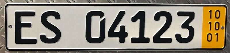 1 Paar Autoschilder Kurzzeit 520 x 110