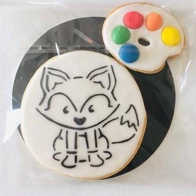 Biscuit à colorier renard