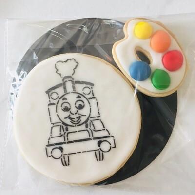 Biscuit à colorier train