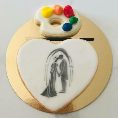 Biscuit à colorier spécial mariage couple