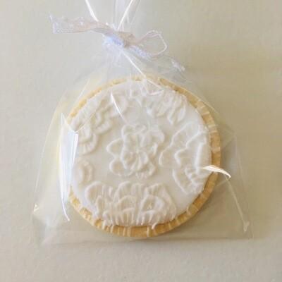 Lot de 5 biscuits dentelle spécial mariage