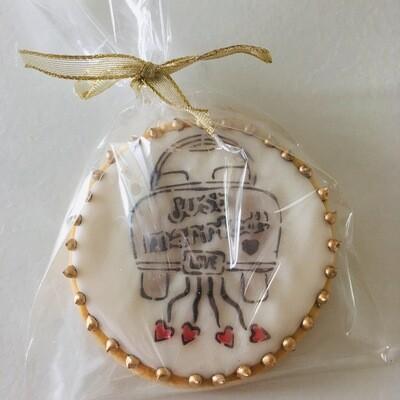 Lot de 5 biscuits thème mariage (décor au choix)