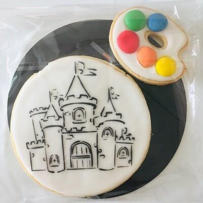 Biscuit à colorier château