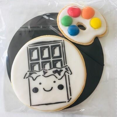 Biscuit à colorier tablette de chocolat