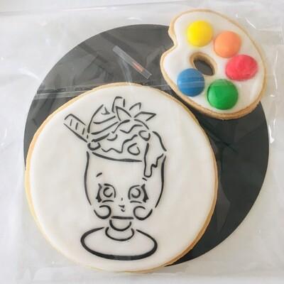 Biscuit à colorier milk-shake