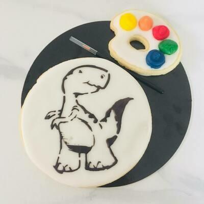 Biscuit à colorier dinosaure