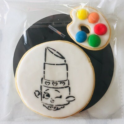 Biscuit à colorier clin d'oeil glossy