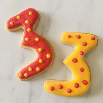 Lot de 6 biscuits chiffre cirque
