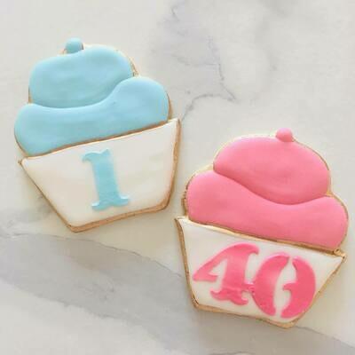 Lot de 6 biscuits cupcake