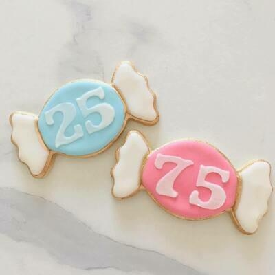 Lot de 6 biscuits bonbon