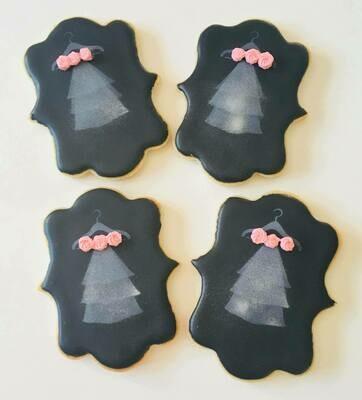 Lot de 5 biscuits voile de mariée