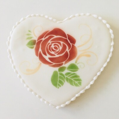 La rose en coeur