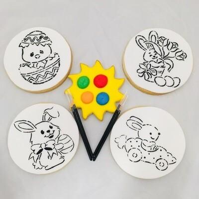 Les 4 biscuits à colorier