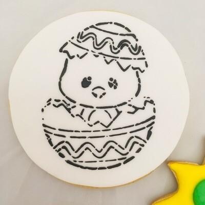 Biscuit à colorier individuel + palette + pinceau