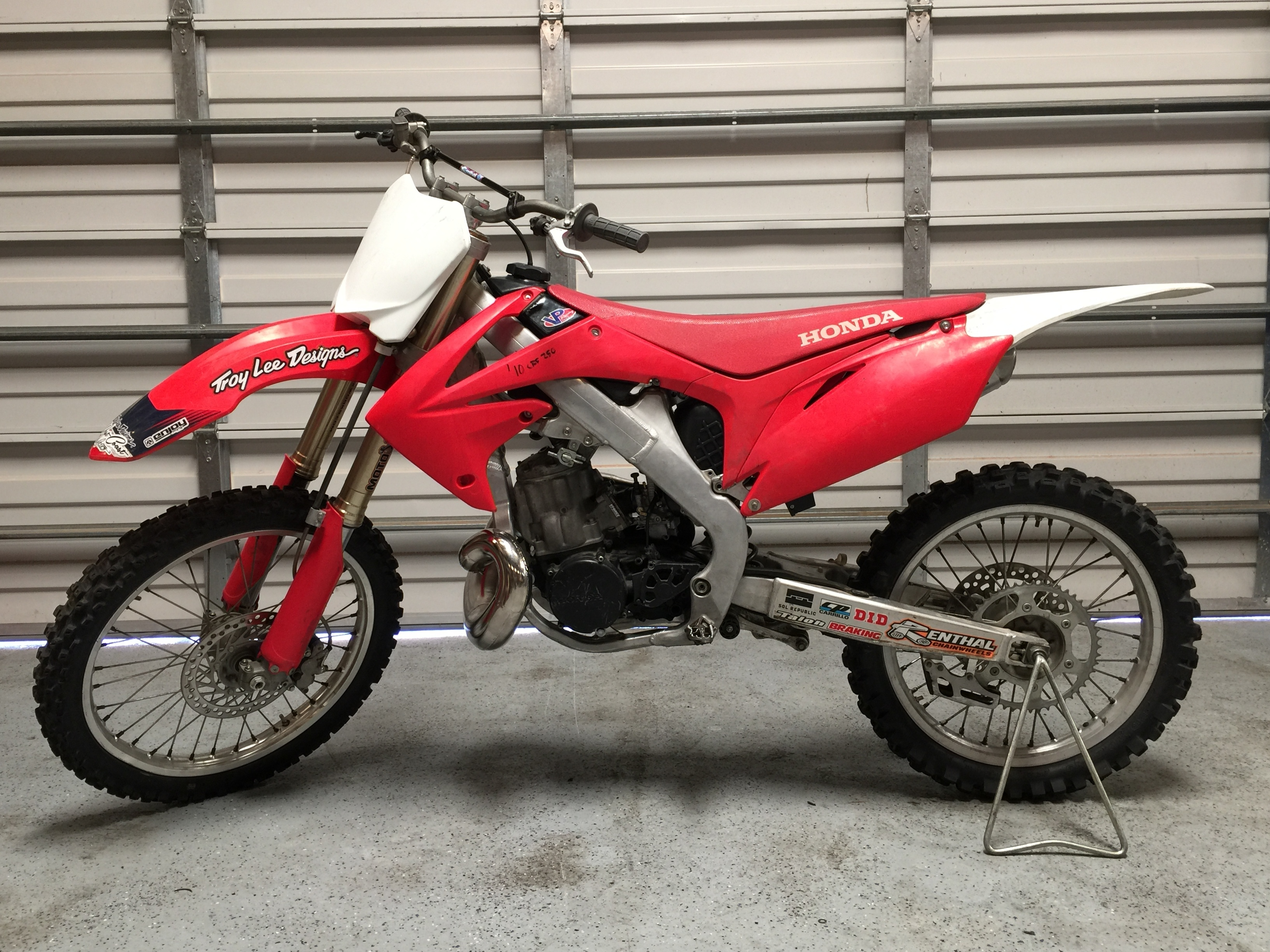 Complete aluminum frame conversion kit for 10-13 CRF250R & 09-12 CRF450R to  CR500 engine