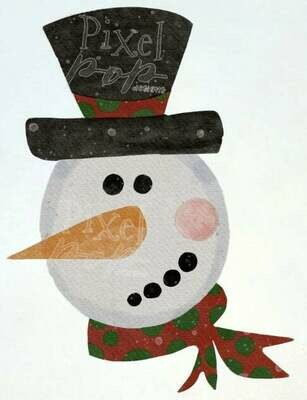 Snowman Face Digital Painted Watercolor Sublimation PNG | Hand Drawn Design | Sublimation PNG | Digital Download | Printable Artwork | Art