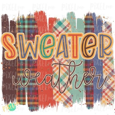 Sweater Weather Plaid Brush Stroke Background Sublimation PNG | Plaid Background | Golden | Transfer | Digital Print | Printable | Clip Art