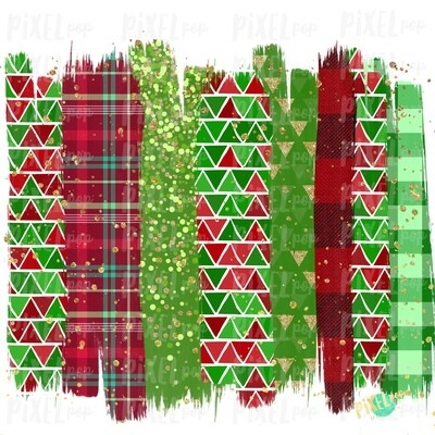 Christmas Gems Red Green Brush Stroke Background Sublimation PNG | Plaid Background | Holiday | Art | Digital Print | Printable | Clip Ar