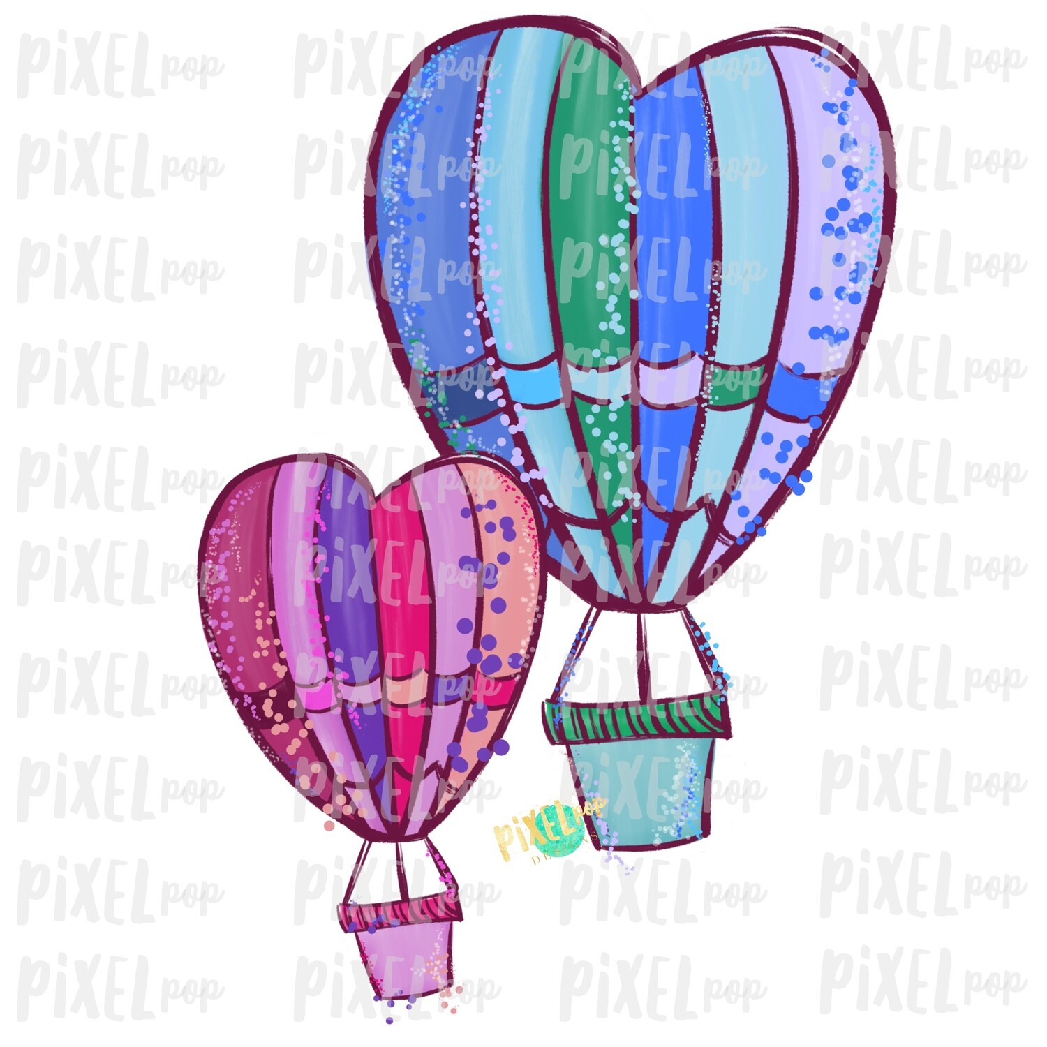 Heart Hot Air Balloon Valentine Sublimation PNG | Love is Kind | Valentine Day Art | Hymn PNG | Digital Download | Printable Art | Clip Art