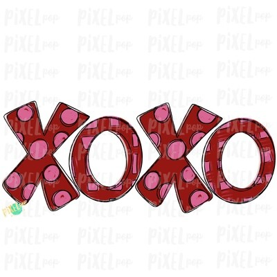 XoXo Black Sparkle Valentine's Day Sublimation PNG | Valentine Art | XoXo Design | Hand Painted Art | Digital Download | Printable | Clip Art