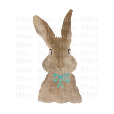 Bunny Rabbit Watercolor Easter Transfer Design PNG | Sublimation Design | Heat Transfer PNG | Digital Download | Printable Art | Clip Art