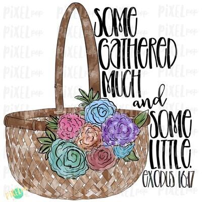 Floral Easter Baset Some Gathered Much Watercolor PNG | Sublimation Design | Easter Design | Digital Download | Printable Art | Clip Art