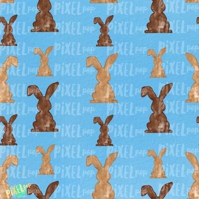 Bunnies Galore Blue Easter Digital Paper Sublimation PNG | Hand Painted Art | Sublimation PNG | Digital Download | Digital Scrapbooking Paper