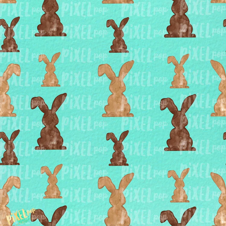 Bunnies Galore Mint Easter Digital Paper Sublimation PNG   Hand Painted Art   Sublimation PNG   Digital Download   Digital Scrapbooking Paper