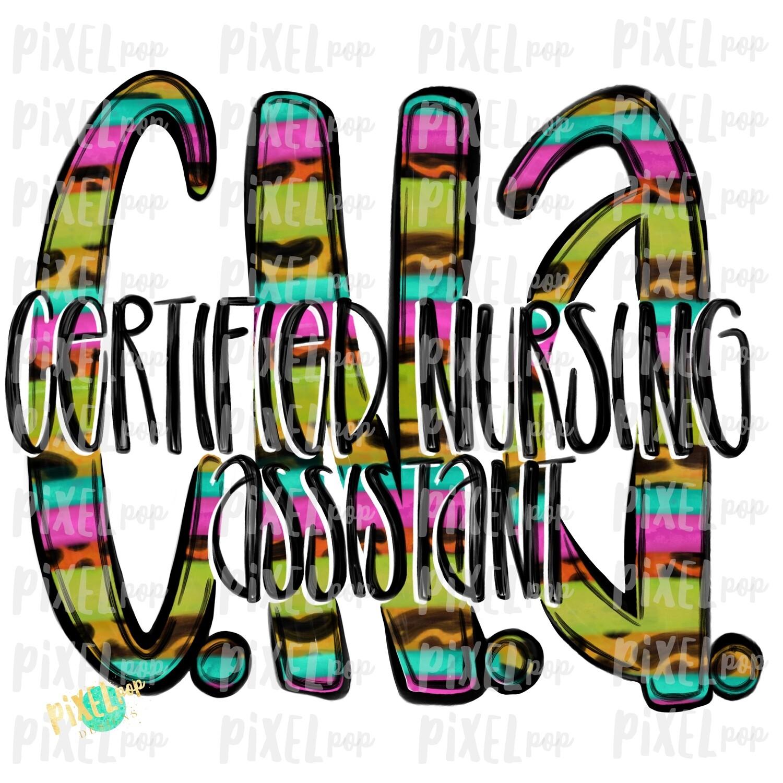 Certified Nursing Assistant CNA BRIGHT PNG Design | Sublimation | Hand Drawn Art | Nursing PNG | Medical Clipart | Digital Download | Art