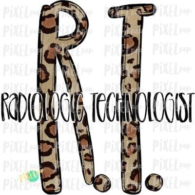 Radiologic Technologist Leopard Sublimation PNG | Sublimation | Hand Drawn Art | Nursing PNG | Medical Art | Digital Download | ArtClipart