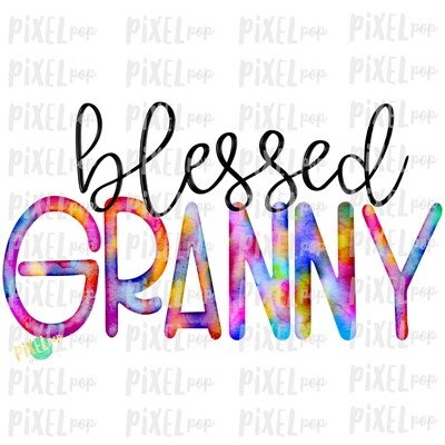 Blessed Granny Watercolor Mother's Day Sublimation Design PNG | Hand Drawn PNG | Sublimation PNG | Digital Download | Printable Art | Art