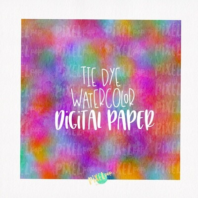 Tie Dye Style Watercolor Digital Paper Sublimation PNG | Hand Painted Art | Sublimation PNG | Digital Download | Digital Scrapbooking Paper