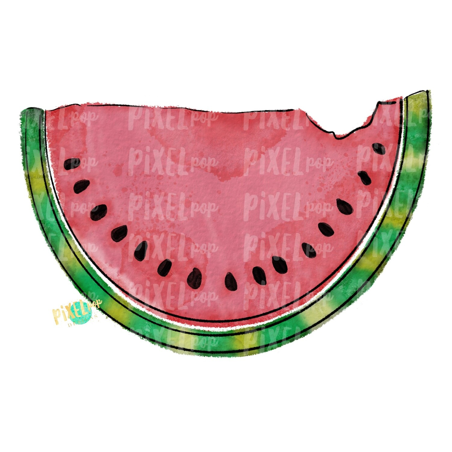 Watercolor Watermelon Watercolor PNG Sublimation Design | Hand Drawn PNG | Sublimation PNG | Digital Download | Printable Art | Clip Art