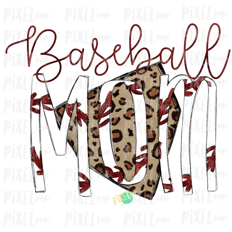 Baseball Mom Leopard Home Plate Sublimation PNG Design   Baseball Design   Sublimation Design   Heat Transfer   Digital Download   Printable Artwork
