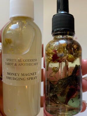ABUNDANCE INTENTION SET - Money Magnet Smudging Spray + Money & Abundance Oil