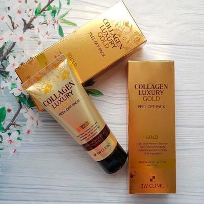 Маска-пленка с золотом 3W Clinic Collagen Luxury Gold Peel Off Pack (100 мл)