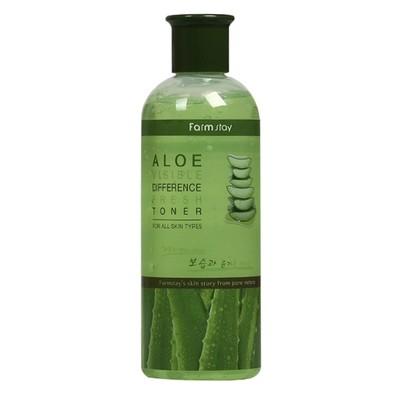 Увлажняющий тонер с экстрактом алоэ FarmStay Visible Difference Fresh Aloe Toner (350 мл)