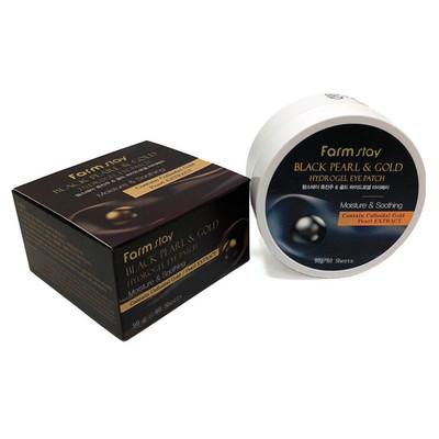 Гидрогелевые патчи с жемчугом и золотом Farmstay Black Pearl and Gold Hydrogel Eye Patch (60 шт)